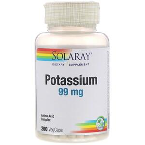 Соларай, Potassium, 99 mg, 200 VegCaps отзывы