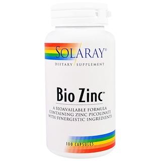 Solaray, Bio Zinc, 100 Capsules