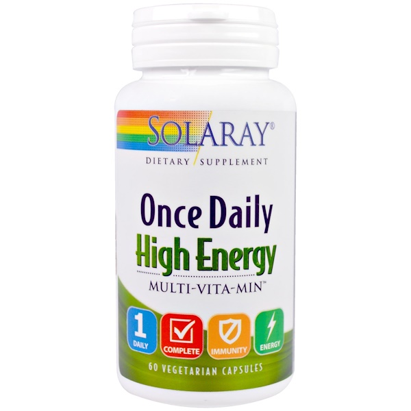 Solaray, Once Daily High Energy, Multi-Vita-Min, 60 Vegetarian Capsules (Discontinued Item)