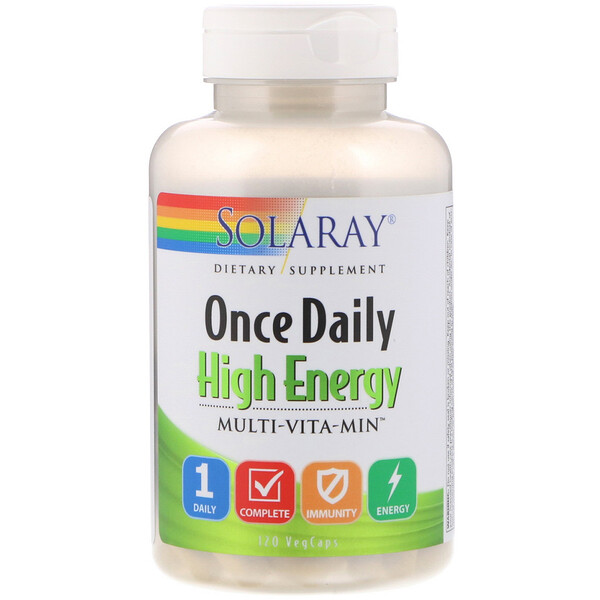 Solaray, Once Daily, High Energy, Multi-Vita-Min, 120 VegCaps