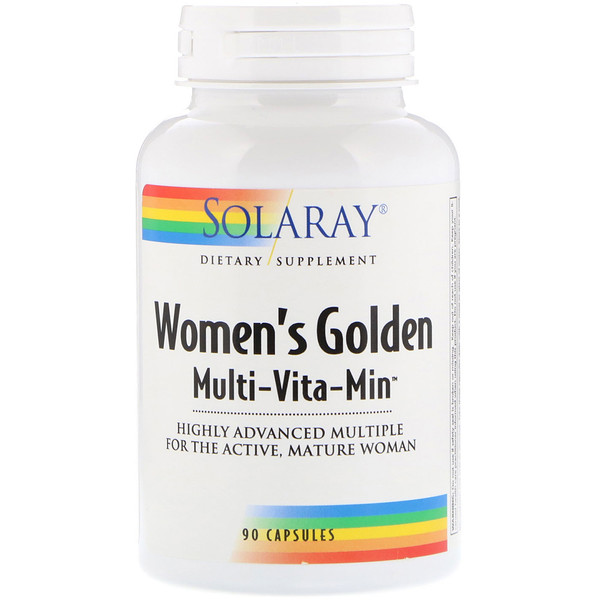 Solaray, Women's Golden Multi-Vita-Min, 90 Capsules
