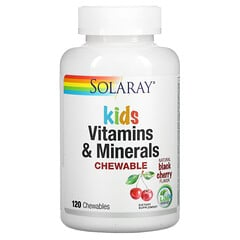 Solaray, 兒童維生素和礦物質咀嚼片,天然黑櫻桃味,120 片咀嚼片