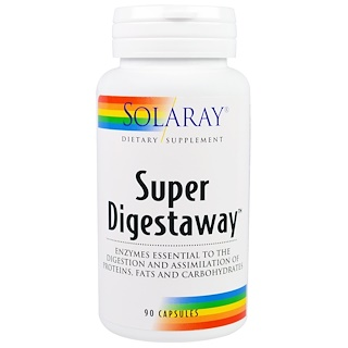 Solaray, Super Digestaway, 90 Capsules