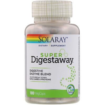 Super Digestaway, Digestive Enzyme Blend, 180 VegCaps dokkan abura das 180 tablets super herb detox enzyme diet support supplement