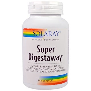 Solaray, Super Digestaway, 180 Capsules