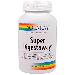 Solaray, Супер Digestaway, 180 капсул инструкция, применение, состав, противопоказания