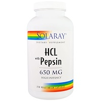 HCL with Pepsin, 650 mg, 250 Capsules - фото