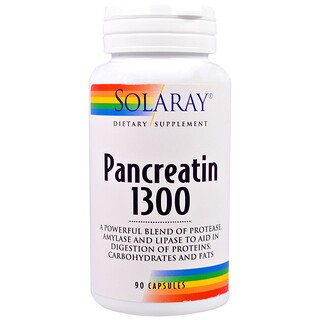Solaray, Pancreatin 1300, 90 Capsules