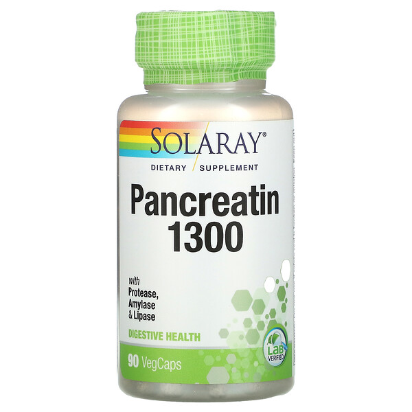 Pancreatin 1300, 90 VegCaps