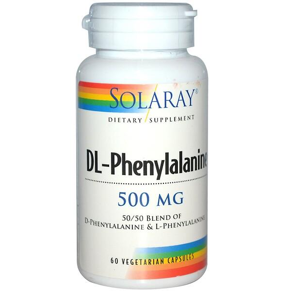 Solaray, DL-Phenylalanine, 500 mg, 60 Veggie Caps (Discontinued Item)