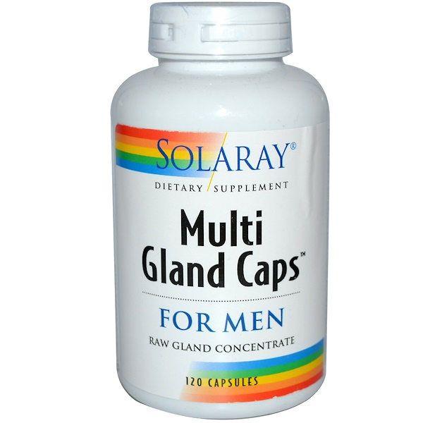 Solaray, Multi Gland Caps, For Men, 120 Capsules (Discontinued Item)