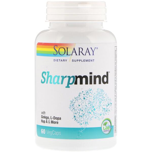 Solaray, 心智清晰,腦力補劑,60粒膠囊