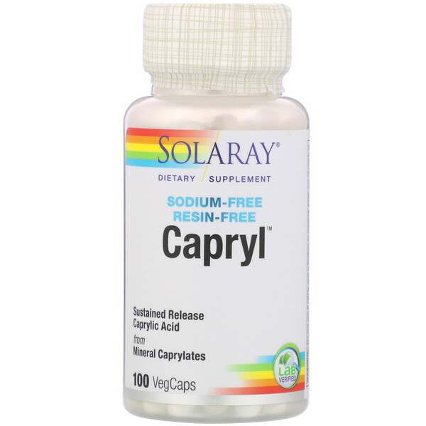 Solaray, Capryl, Sodium-Free, Resin-Free, 100 VegCaps