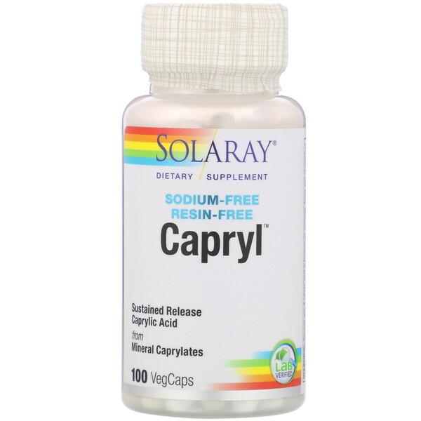 Capryl,持續釋放,100粒植物膠囊