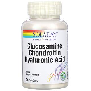 Solaray, 氨基葡萄糖/軟骨素/透明質酸素食膠囊,90 粒裝