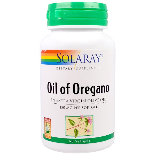 Solaray, Oil of Oregano, 150 mg, 60 Softgels