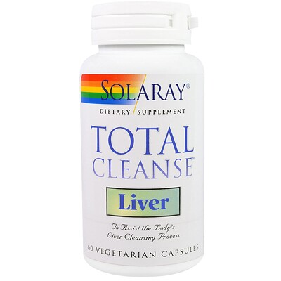 Купить Solaray Total Cleanse, для очистки печени, 60 вегетарианских капсул