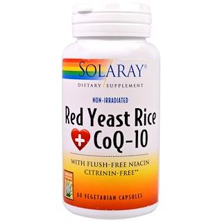 Solaray, Red Yeast Rice CoQ-10, 60 Vegetarian Capsules