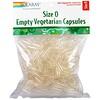 Solaray, Empty Vegetarian Capsules, Size 0, 500 Vegetarian Capsules