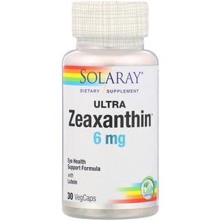 Solaray, Ultra Zeaxanthin, 6 mg, 30 VegCaps