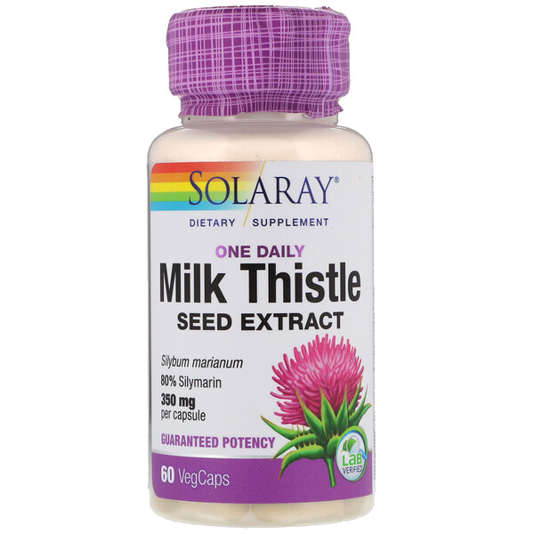 Solaray, Milk Thistle Seed Extract, One Daily, 350 mg, 60 VegCaps