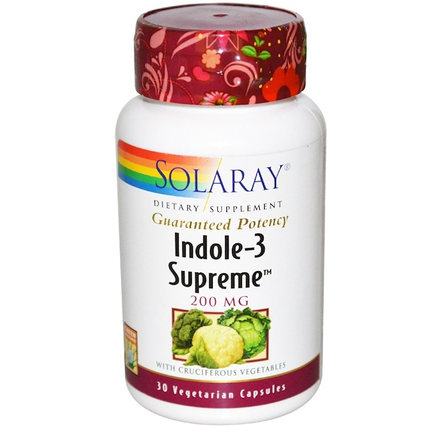 Solaray, Indole-3 Supreme, 200 mg, 30 Veggie Caps (Discontinued Item)