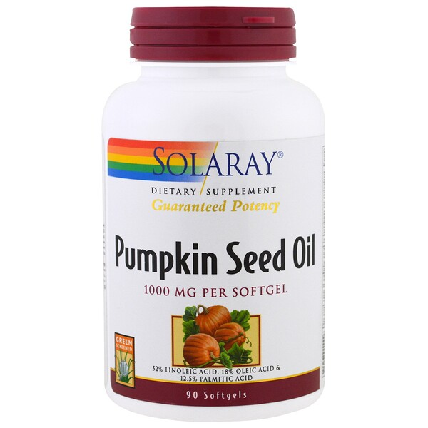 Pumpkin Seed Oil, 1,000 mg, 90 Softgels