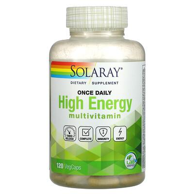 Solaray Once Daily, High Energy Multivitamin, 120 VegCaps
