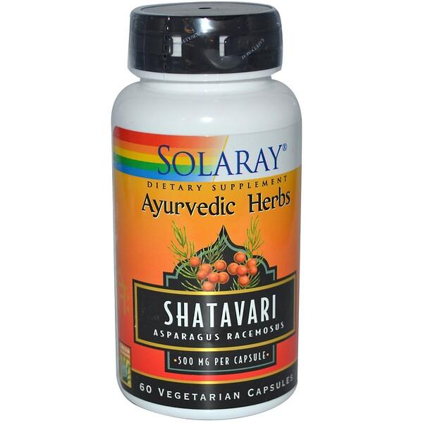 Solaray, Shatavari, 500 mg, 60 Veggie Caps (Discontinued Item)