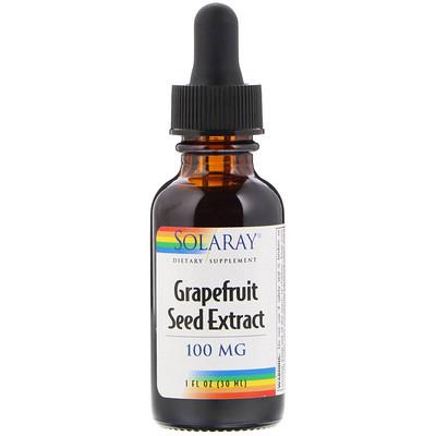 Solaray Экстракт семян грейпфрута, 100 мг, 1 ж. унц. (30 мл)  - купить со скидкой