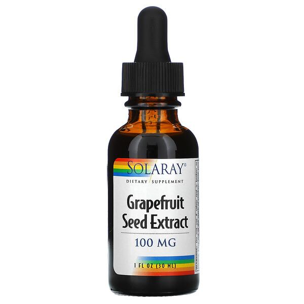 Solaray, Grapefruitkernextrakt, 100 mg, 30 ml (1 fl oz)