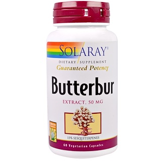 Solaray, セイヨウフキ、エキス、50 mg、ベジキャップ使用 60 錠