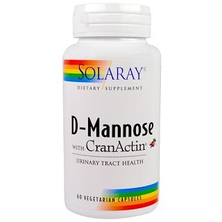 Solaray, D-Mannose, with CranActin, 60 Vegetarian Capsules