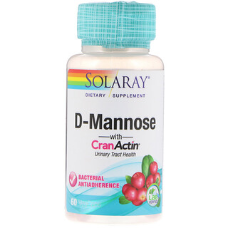 Solaray, D-Mannose with CranActin, Urinary Tract Health, 60 VegCaps