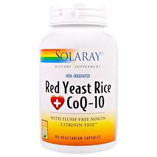 Solaray, Red Yeast Rice + CoQ-10, 90 Vegetarian Capsules
