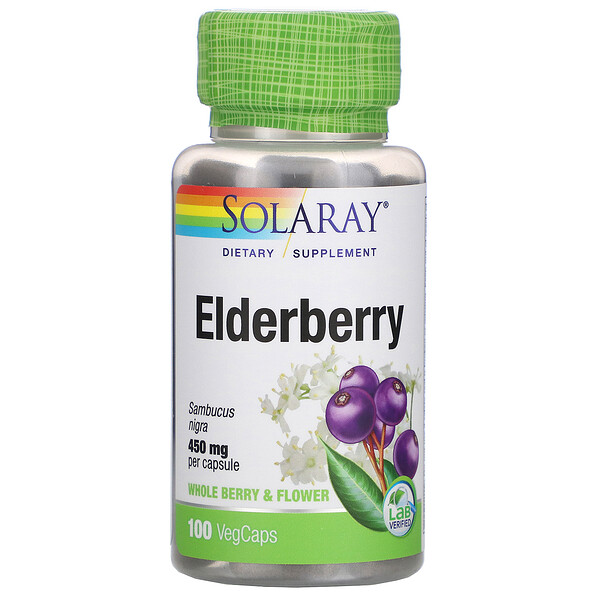 Elderberry, 450 mg, 100 VegCaps