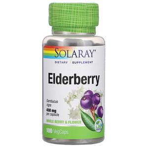 Соларай, Elderberry, 450 mg, 100 VegCaps отзывы покупателей