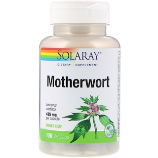Solaray, Motherwort, 425 mg, 100 VegCaps