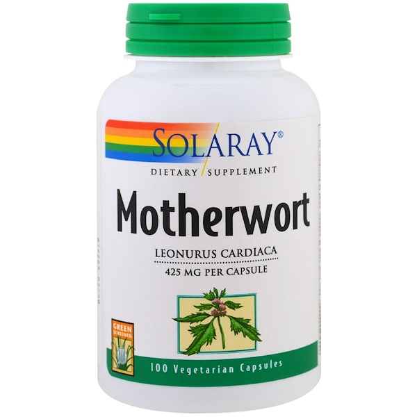 Solaray, Motherwort, 425 mg , 100 Veggie Caps