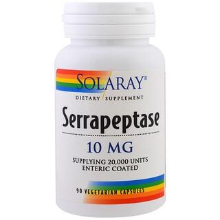 Solaray, Serrapeptase, 10 mg, 90 Veggie Caps