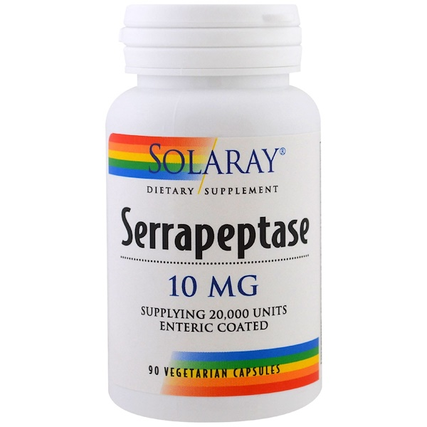 Solaray, Serrapeptase, 10 mg, 90 Veggie Caps (Discontinued Item)