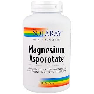 Solaray, Magnesium Asporotate, 180 VegCaps