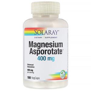 Соларай, Magnesium Asporotate, 400 mg, 180 VegCaps отзывы покупателей