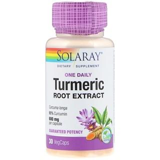 Solaray, Turmeric Root Extract, One Daily, 600 mg, 30 VegCaps