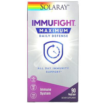 Solaray ImmuFight, Maximum Daily Defense, 90 VegCaps