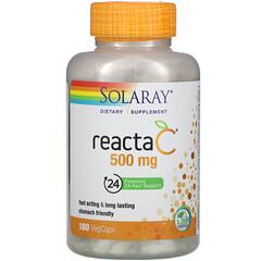 Solaray, Reacta-C 維生素 C 補充劑,500 微克,180 粒素食膠囊
