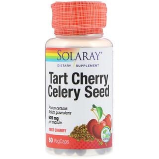 Solaray, 타르트 체리 프루트 추출물 & 셀러리 씨앗, 60 식물성 캡슐