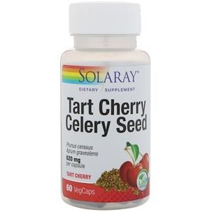 Solaray, Экстракт вишни и семян злаковых, 60 растительных капсул инструкция, применение, состав, противопоказания