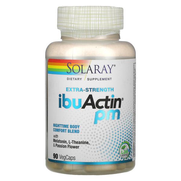 Solaray, Extra-Strength IbuActin PM, 90 Vegetarian Capsules