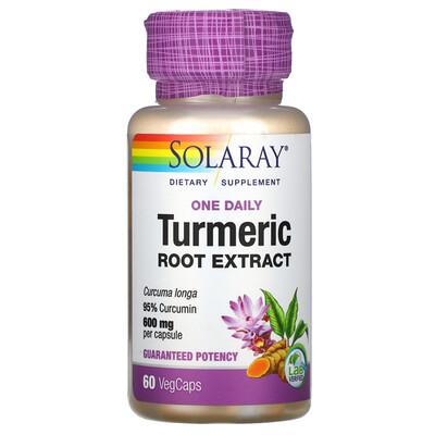 Solaray Turmeric Root Extract, One Daily, 600 mg, 60 VegCaps